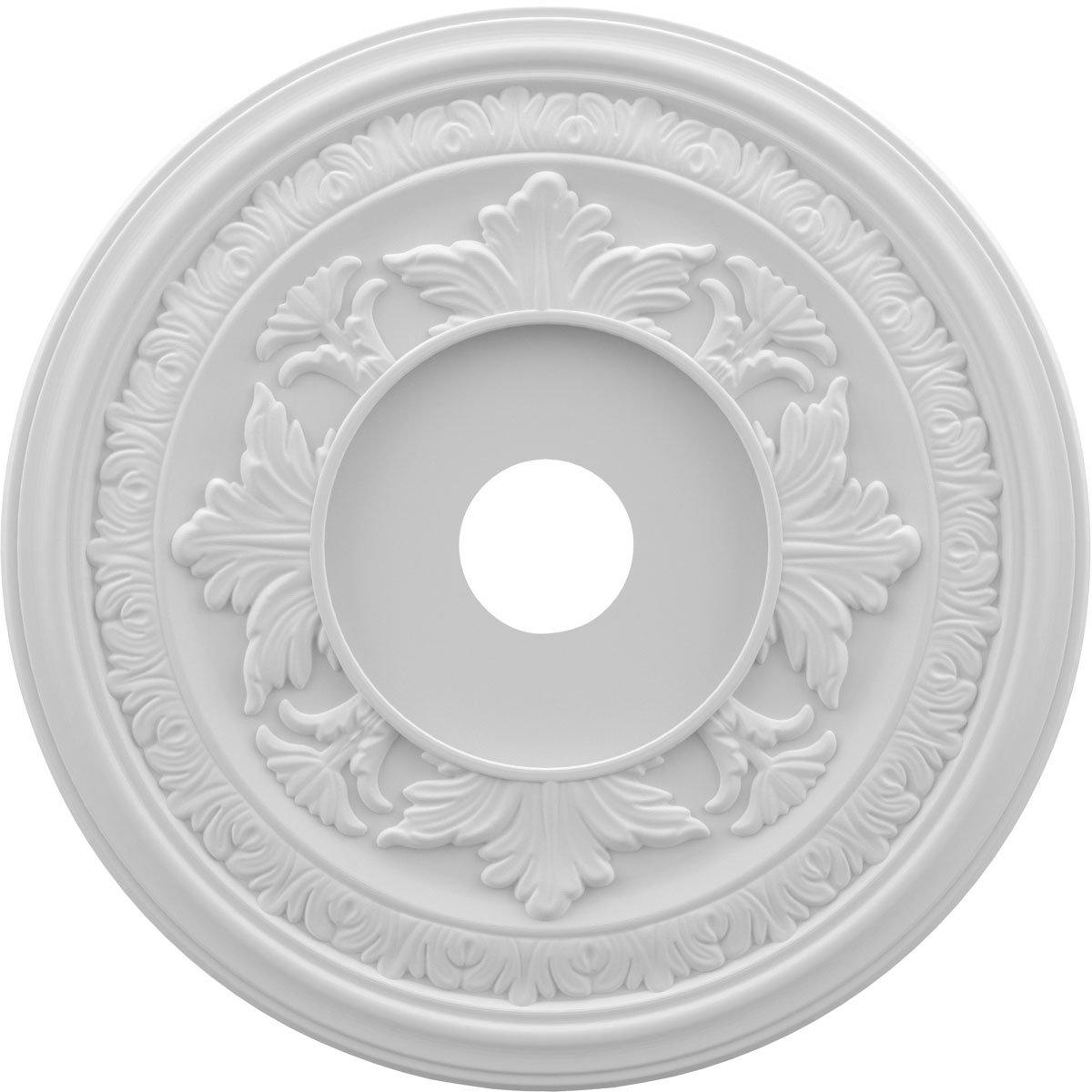 Ekena Millwork CMP22BA Baltimore Medallion Thermoformed Pvc Ceiling, 22'' OD x 3 1/2'' ID x 1'' P, White
