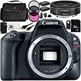 Canon EOS Rebel SL2 DSLR Camera with EF 40mm f/2.8 STM Lens 11 Accessory Bundle – Includes 32GB SD Memory Card + 2x Replacement Batteries + MORE - International Version (No Warranty)