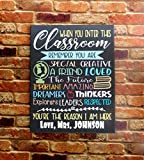 When You Enter This Classroom Teacher Sign Classroom Wall Decor Canvas