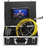 """Lixada Ecoscandaglio da Pesca 20M Fotocamera per Fognatura a Tubo di Scarico 7 """"LCD Monitor Registratore DVR 12 Visioni Notturne di LED Impermeabile Serpente Macchina Fotografica"""