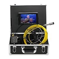 Lixada Fischfinder Unterwasserfischen Kamera 20M/30M Drain Pipe Sewer Inspektion Kamera LCD Monitor DVR Recorder 12 LEDs Nachtsicht Wasserdicht
