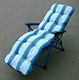 Premium Quality Sun Lounger, EXTRA THICK Padded Cushion