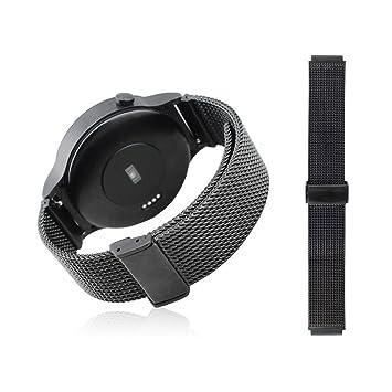 Dokpav® Banda Pulsera Correa de Reloj Inteligente milanés Smartwatch para Huawei- Negro: Amazon.es: Electrónica