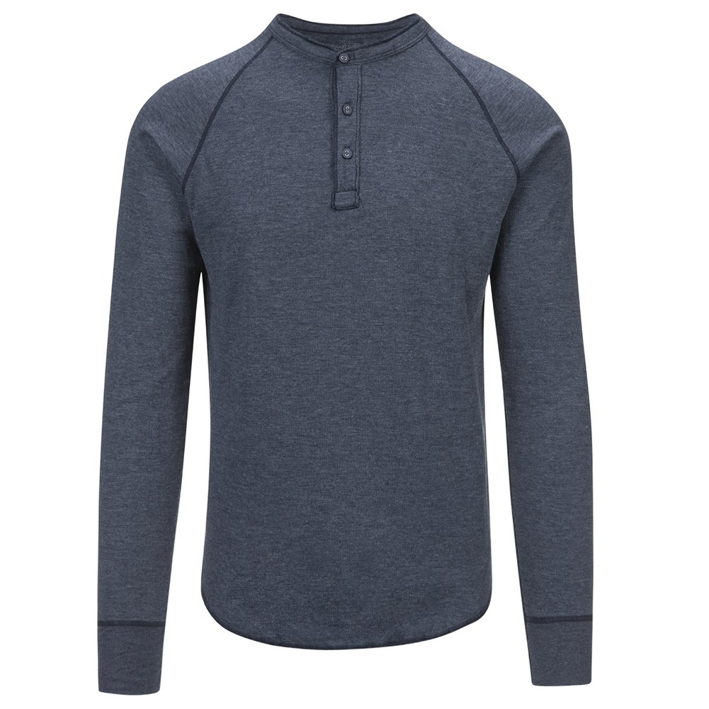 Save Khaki Men's L/S Pointelle Henley Shirt SK013-PT Navy SZ L