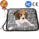 Pet Heating Pad - Dog Cat Electric Heating Pad Indoor Waterproof Adjustable Warming Mat with Chew Resistant Steel Cord 17.7
