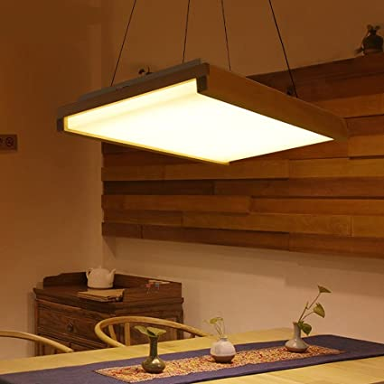 Led Wood Pendant Lights Office Study Lamp Dining Table Creative Personality  Restaurant Japanese Style Bar Lamps
