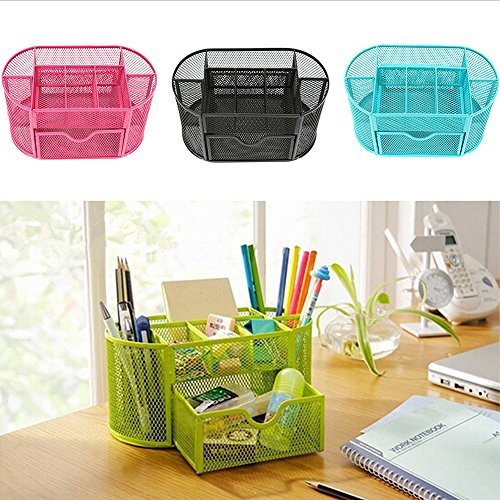 9 Cells Desk Organizers Metal Mesh Desktop Office School/Home Pen Pencil Holder Home Organization 1 - At Shops Creek City