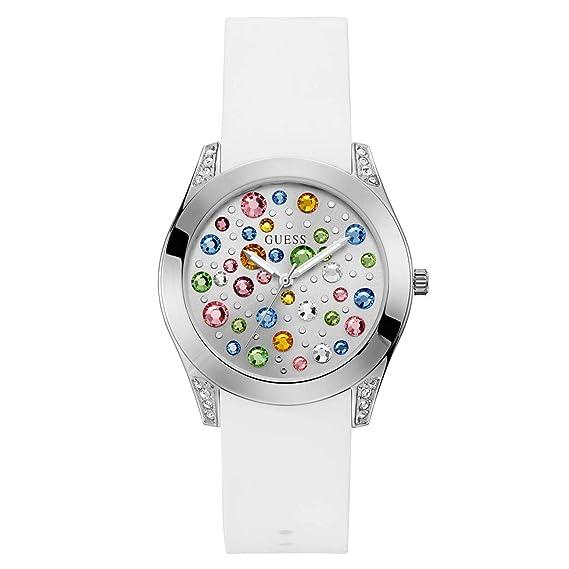 Guess Reloj Analógico para Mujer de Cuarzo con Correa en Silicona W1059L1: Amazon.es: Relojes