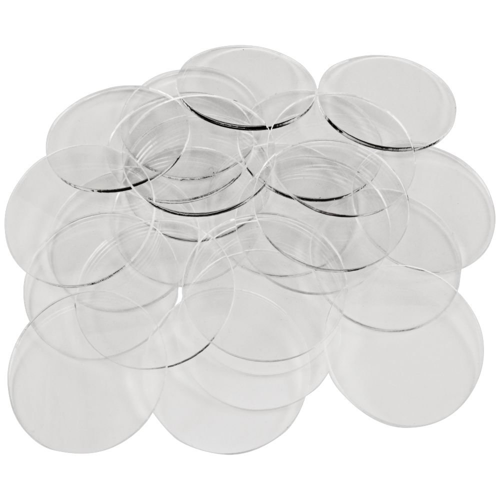 1.5mm Clear Miniature Bases, Circular 40mm (25)