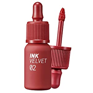 Peripera Ink the Velvet Lip Tint | High Pigment Color, Longwear, Weightless, Not Animal Tested, Gluten-Free, Paraben-Free | Celeb Deep Rose (#02), 0.14 fl oz