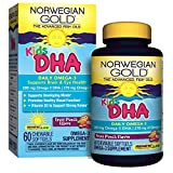 Norwegian Gold - Kids DHA Omega 3 supplement - 60 chewable fruit punch softgels - Renew Life brand