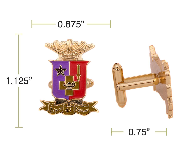 Desert Cactus Sigma Phi Epsilon Fraternity Crest Cufflinks Greek Formal Wear Blazer Jacket sig ep by Desert Cactus (Image #2)