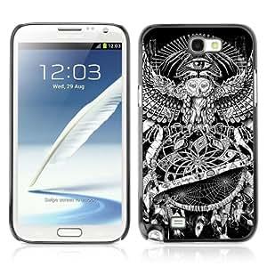 YOYOSHOP [Dream Catcher Owl Eye] Custodia Case Cover per Samsung Galaxy Note 2