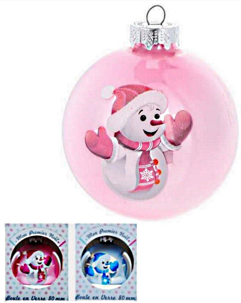 Jja Christmas Bauble 80 Mm Mon Premier Noël My First Christmas