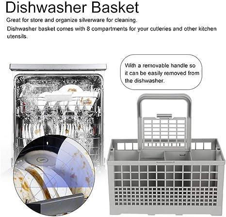 Cesta universal para lavavajillas (con asa, soporte de cubiertos y ...
