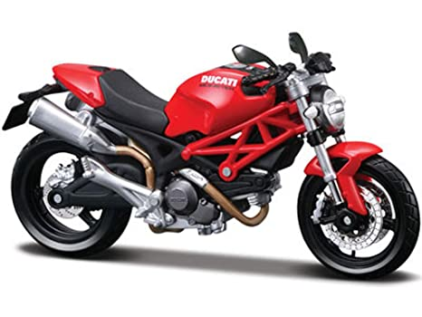 Amazon.com: Maisto Ducati Monster 696 Motorcycle, Red 31189 ...