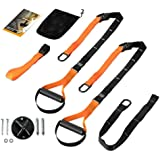 Portonss Suspension Trainer Straps Kit Resistance Band Bodyweight Home Workout Exercise Fitness Straps