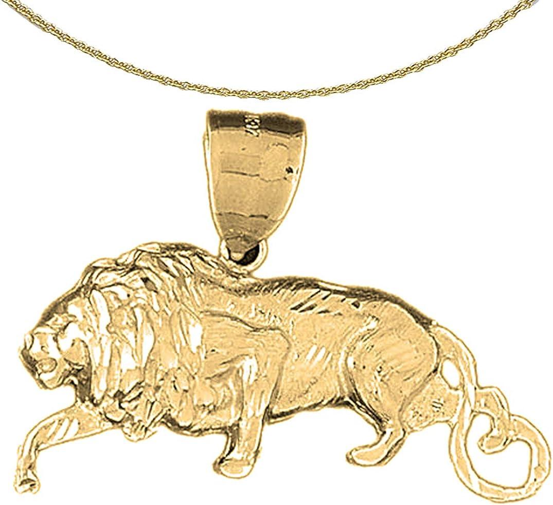 Sterling Silver 925 Lion Pendant 35 mm Jewels Obsession Lion Pendant