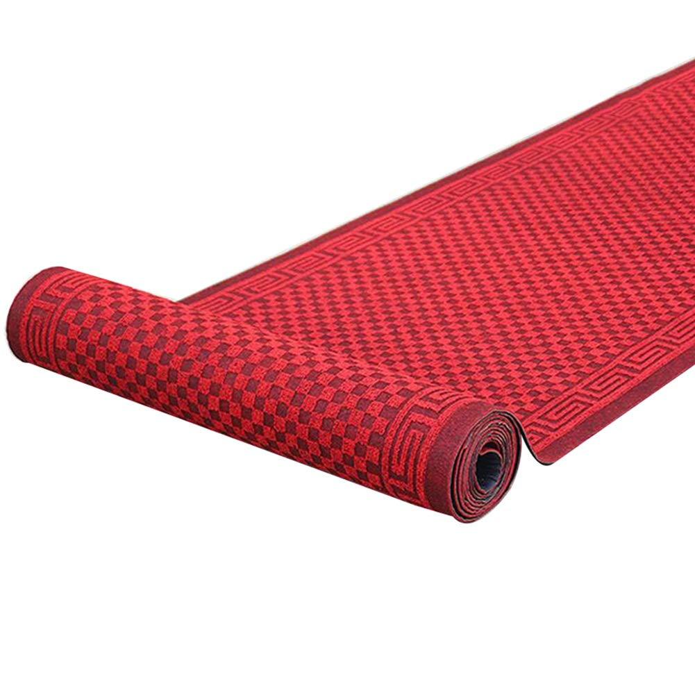 JIAJUAN 長方形 廊下のカーペットランナー ラグ にとって キッチン エントランス 通路 ドアマット 吸水 滑り止め 屋内 屋外の カーペット (色 : 赤, サイズ さいず : 1.6x8m) 1.6x8m 赤 B07QSQWY6M