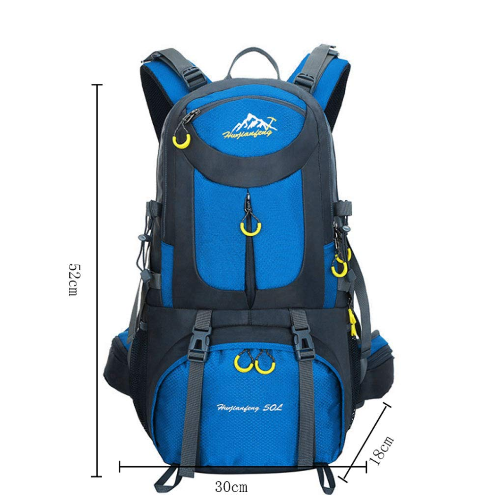 ZDD Outdoor Mountaineering Bag Camping Bag Men and Women 40L Large Capacity Splash-Proof Backpack Student Bag Color : Sky Blue
