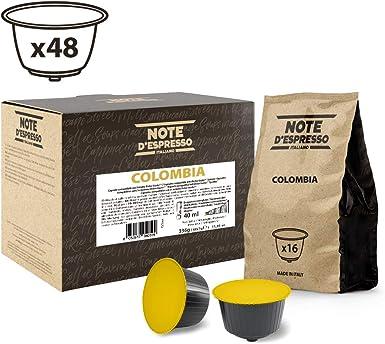 Note DEspresso - Cápsulas de café de Colombia Exclusivamente Compatibles con cafeteras de cápsulas Nescafé* y Dolce Gusto* 7 g (caja de 48 unidades): Amazon.es: Alimentación y bebidas