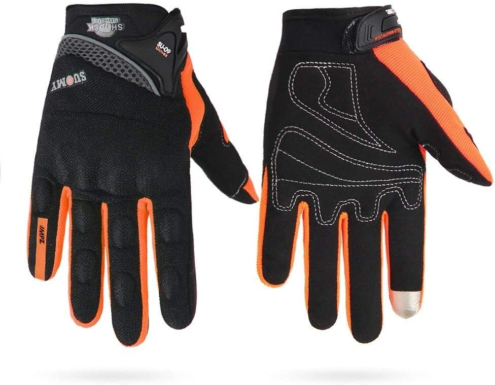 Color : SU 09 Orange, Size : XXL JYSL Motorradhandschuhe Herren 100/% Wasserdicht Winddicht Winter Moto Handschuhe Touchscreen Motorrad Reithandschuhe