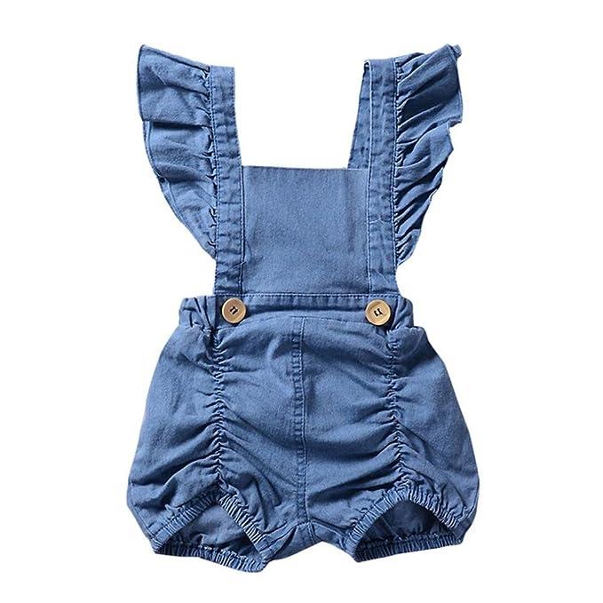 Amazon.com: minisoya recién nacido Baby Girl vestido vaquero ...