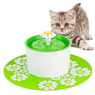 Amazon.es: Fuente De Agua Gatos Y Perros, Dispensador De Agua Automático Para Mascotas, Bebedero Automático 1.6 L De Gato, Perro, Sano E Higiénico(Blue)