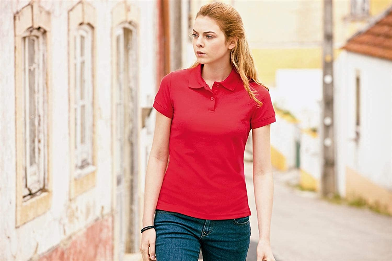 Donna Fruit Of The Loom Polo Manica Corta