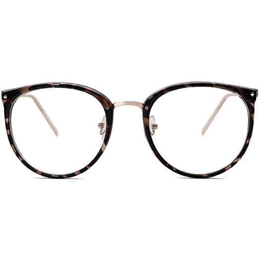 b814414f9db9 Amazon.com  Amomoma Fashion Round Eyewear Frame Eyeglasses Optical Frame  Clear Lens Glasses AM5001  Clothing