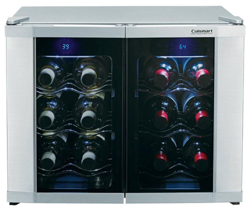 amazoncom cuisinart cwc 1200dz 12 bottle dual zone wine cellar appliances awesome portable wine cellar