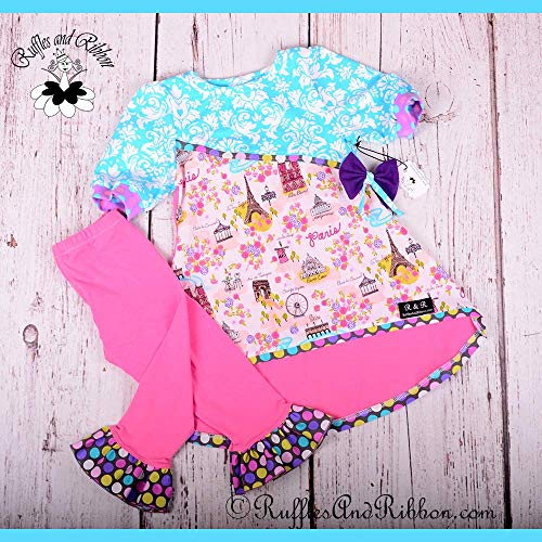 - Size 6 / Girls Outfits/Girls Tunics/Girls Leggings/Ruffle Leggings/Girls Capris/Girls Party Outfits/Girls Boutique Clothes/Handmade