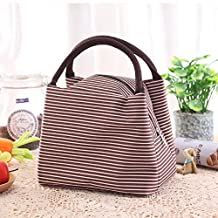 Enterest Lunch Bag for Men and Women Large Capacity Design High-Quality Zipper Durable and Portable Healthy Aluminum Film Lunch Organizer (Brown)