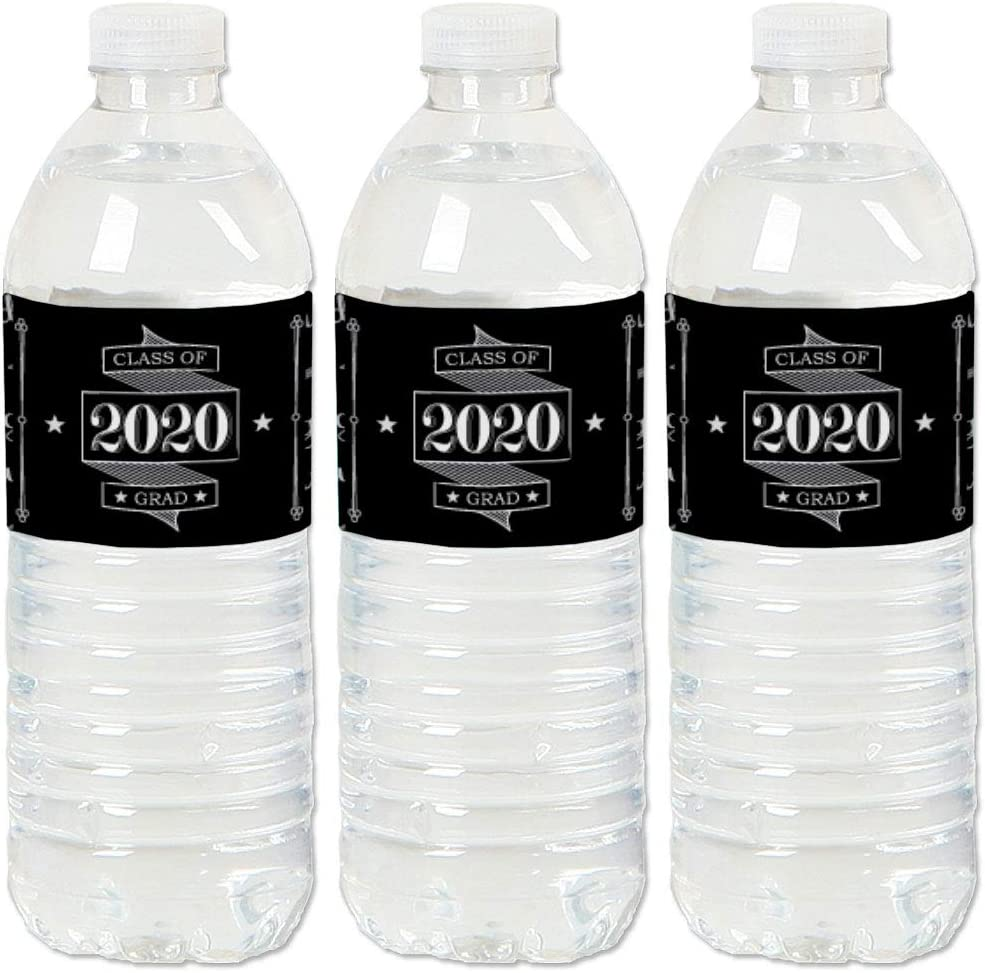 graduation water bottle labels