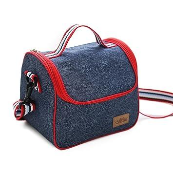 Bolsa termica,bolsa almuerzo,bolsa termica porta alimentos con herméticos incluidos
