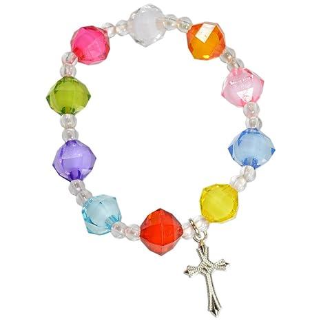En Verre Et De Différents Bracelet Enfant Perles Élastique Coloris 6IyYg7bfv