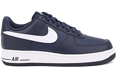 Nike Air Force 1 Low Midnight Navy Blue White 488298 436 Size 10 Men'S Shoe - B7228