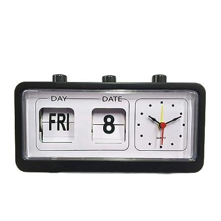 SMNHSRXH Reloj Flip Clock Vintage Decorativo Dormitorio Retro Flip ...
