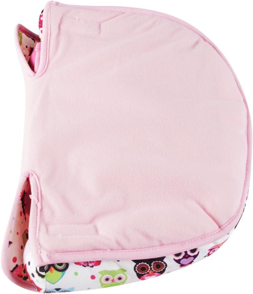 portabeb/és cochecito Kakiblin rosa rosa Coj/ín de apoyo para el cuello de la cabeza suave para asiento de coche