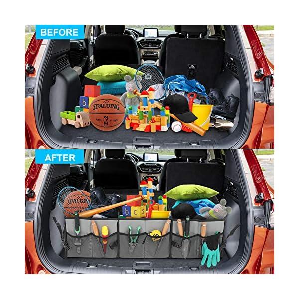 61lp9g%2BbW6L AojSup Extra großer Kofferraum Organizer 92L mit Deckel und Kühltasche, Faltbare Auto kofferraumtasche 1-3…
