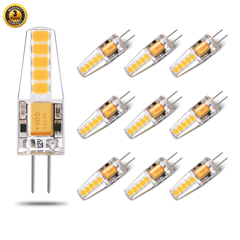 No Flicker Led G4 Bulb Ac Dc Bi Pin Warm White 12v 20w Halogen Circuit Replacement Light For Landscape Rv Cabinets Range Hood 2w 200lm 10 Pack Yuiip