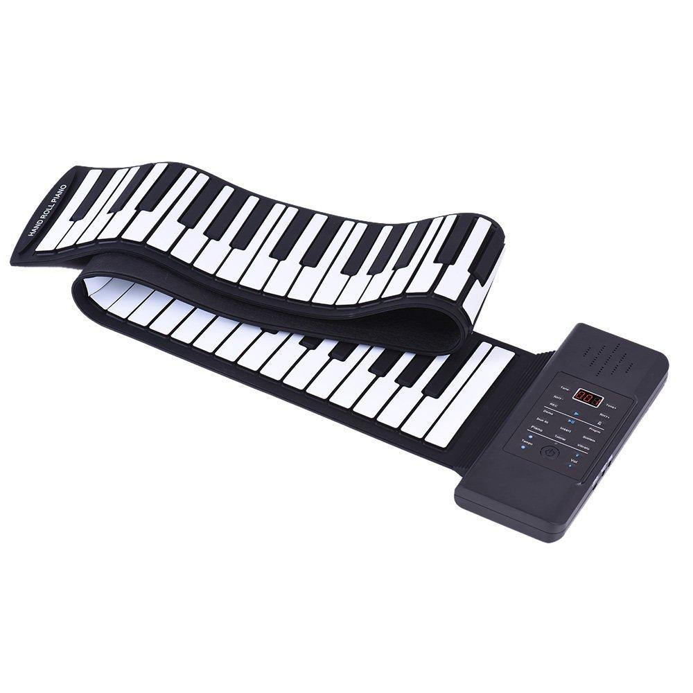 ammoon portable Piano silicone 88 clés main Roll Up USB Built-in aux Loni de lithium et haut-parleur fort avec un Pédale