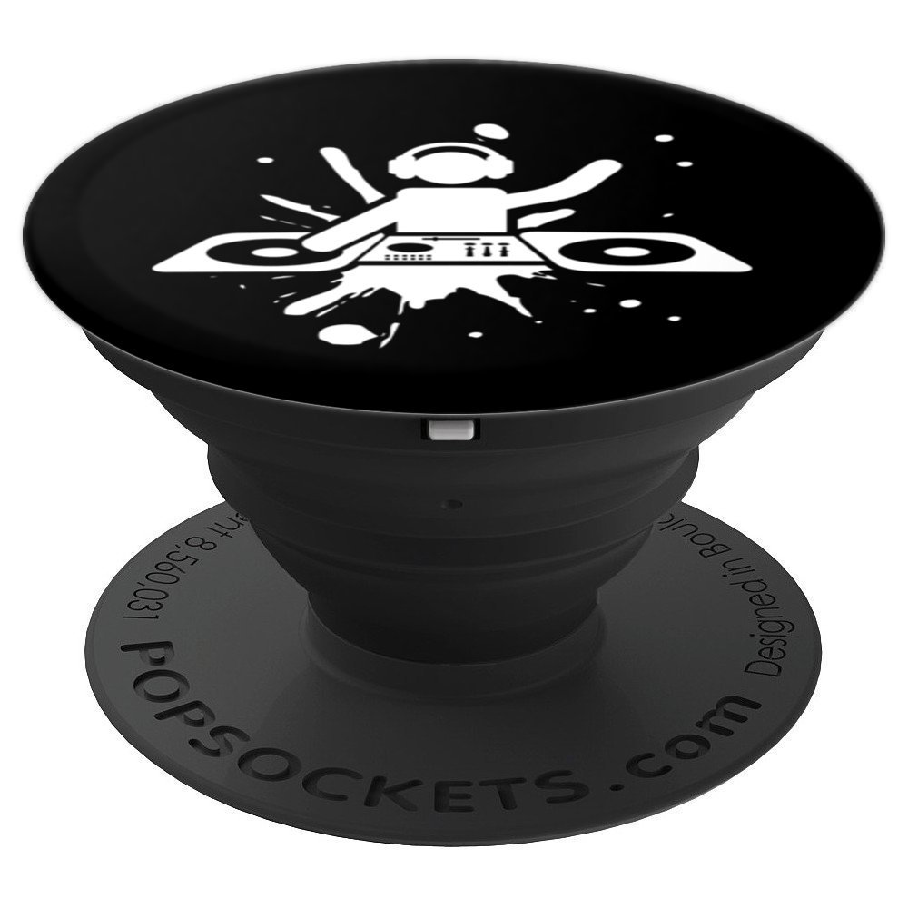 DJ with Headphones Dual Turntable Icon - PopSockets Grip and Stand for Phones and Tablets
