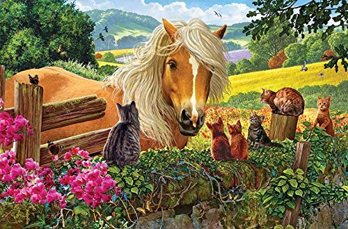 Horses Piece Puzzle 100 - SunsOut New Neighbors 100 pc Jigsaw Puzzle
