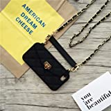 UnnFiko Wallet Case Compatiblewith iPhone Xs Max, Pretty Luxury Bag Design, Purse Flip Card Pouch Cover Soft Silicone Case with Hand Holder Long Shoulder Strap