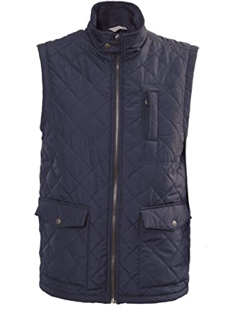 027caa58c8 Vedoneire Mens Navy Blue Quilted Gilet (3034) Sleeveless Jacket (Small  (chest 35