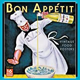 Bon Appetit: Vintage Food Posters 2018 Wall Calendar (CA0112) (French Edition)