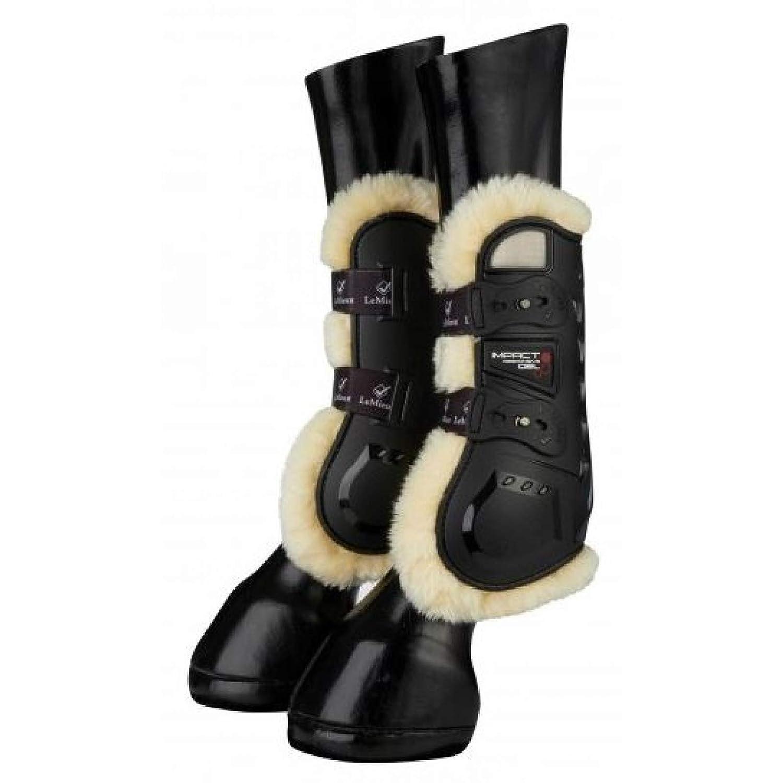 Black L Black L LeMieux Impact Responsive Comfort Tendon Boots Black