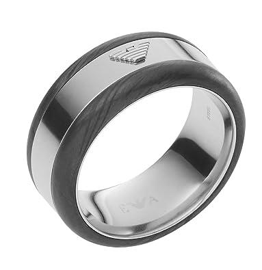 4709cf355fa54 Image Unavailable. Image not available for. Color  Emporio Armani  EGS2184040 Deco Barrel Eagle Logo Ring ...