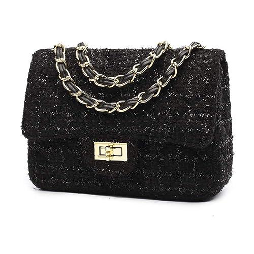 design senza tempo f94a2 212e9 Borse a Tracolla Tweed Fashion da Donna Borse a Mano e ...